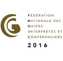 Logo d'adhérent 2016 à la FNGIC (Fédération Nationale des Guides Interprètes et Conférenciers)