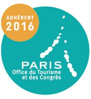 Logo d'adhérent 2016 à l'Office du Tourisme et des Congrès de PARIS