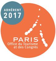 Logo d'adhérent 2017 à l'Office du Tourisme et des Congrès de PARIS